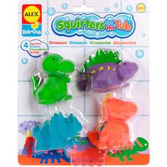 Игрушка для ванны Alex Динозаврики 4 пр., в блистере от 6 мес (700DN) Alex®