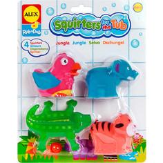Игрушка для ванны Alex Джунгли, 4 пр. в блистере, от 6 мес. (700JN) Alex®