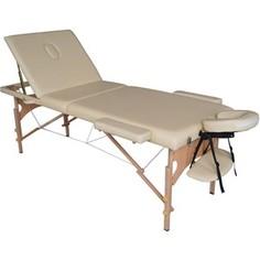 Массажный стол DFC Nirvana Relax Pro (деревяные ножки, бежевый)
