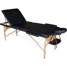 Массажный стол DFC Nirvana Relax Pro (деревяные ножки, черный)