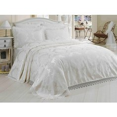 Покрывало Hobby home collection Евро + наволочки Evita кремовый