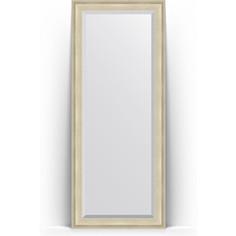 Зеркало напольное с фацетом поворотное Evoform Exclusive Floor 83x203 см, в багетной раме - травленое серебро 95 мм (BY 6123)