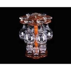 Бар 12 предметов 6х290 мл/6х50 мл М-Декор Люкс гравировка отводка золото (1501-ГЗ)