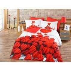 Комплект постельного белья Hobby home collection Евро, поплин, 3D Romantic, (1501000935)