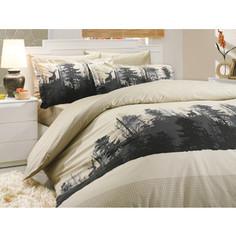 Комплект постельного белья Hobby home collection 1,5 сп, поплин, Tierra, бежевый (1501000182)