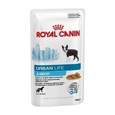 Паучи Royal Canin Urban Life Junior для для щенков до 15 месяцев живущих в городских условиях 150г (791001)