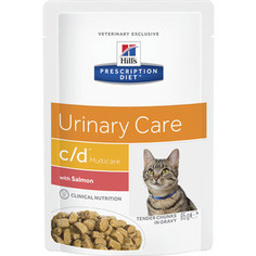 Паучи Hills Prescription Diet c/d Urinary Care Milticare with Salmon с лососем диета при цистите для кошек 85г (1882)