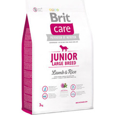 Сухой корм Brit Care Junior Large Breed Lamb & Rice гипоаллергенный с ягненком и рисом для молодых собак крупных пород 3кг (132704) Brit*