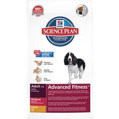 Сухой корм Hills Science Plan Advanced Fitness Adult Medium with Chicken с курицей для собак средних пород 12кг (3276)