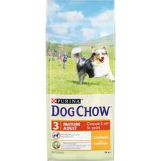 Сухой корм DOG CHOW Adult Mature 5+ with Chicken с курицей для собак в возрасте 5-9 лет 14кг (12308569)
