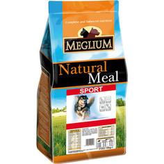 Сухой корм MEGLIUM Natural Meal Dog Adult Sport для активных собак 15кг (MS0215)