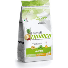 Сухой корм Trainer Fitness3 No Grain Medium/Maxi Adult Vegetal беззерновой вегетарианский для собак средних и крупных пород 12,5кг