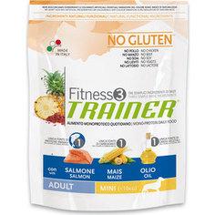Сухой корм Trainer Fitness3 No Gluten Mini Adult Salmon&Maize без глютена с лососем и кукурузой для собак мелких пород 800г
