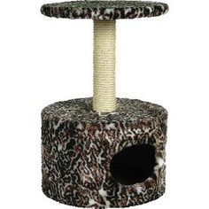 Когтеточка Зооник Дом круглый цветной мех для кошек 420 х 660см (22013)