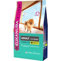 Сухой корм Eukanuba Adult Dog Toy Breed Rich in Chicken с курицей для взрослых собак миниатюрных пород 1,5кг
