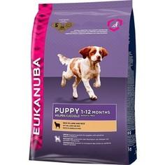 Сухой корм Eukanuba Puppy Rich in Lamb and Rice с ягненком и рисом для щенков с чувствительным пищеварением 12кг