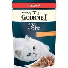 Паучи Gourmet Perle Mini Fillets с говядиной для кошек 85г (12215233)