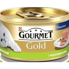 Консервы Gourmet Gold паштет с кроликом для кошек 85г (12182548)