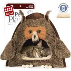 Домик GiGwi Сова для кошек и собак 38х38х40см (75061)
