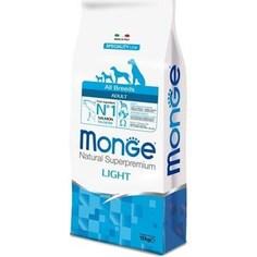Сухой корм Monge Speciality Line Adult Dog All Breed Light Salmon низкокалорийный с лососем для взрослых собак всех пород 12кг