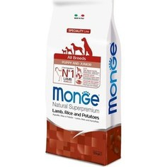 Сухой корм Monge Speciality Line Puppy and Junior All Breed Lamb, Rice and Potatoes с ягненком, рисом и картофелем для щенков всех пород 12кг