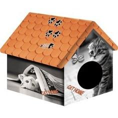Домик PerseiLine Дизайн Кошка с газетой для кошек 33*33*40 см (00100/ДМД-1)