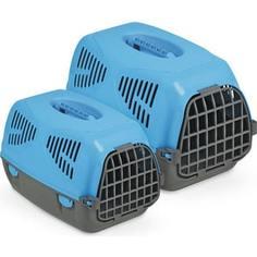 Переноска MPS SIRIO LITTLE голубая 50x33,5x31h см для животных