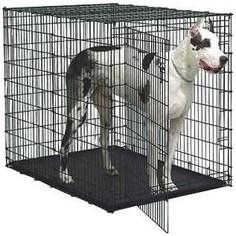Клетка Midwest Solutions Series 54 Double Door 137x94x114h см 2 двери черная для собак