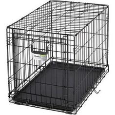 Клетка Midwest Ovation 30 Single Door Crate 79x49x55h см с торцевой вертикально-откидной дверью черная для собак