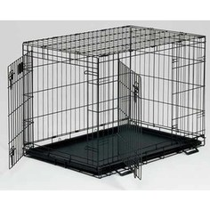 Клетка Midwest Life Stages 42 Double Door Dog Crate 122x76x84h см 2 двери черная для собак