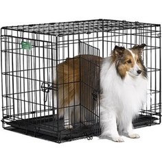 Клетка Midwest iCrate 30 Double Door Dog Crate 76x48x53h см 2 двери черная для собак