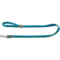 Поводок Hunter Leash Maui 25/120 сетчатый текстиль голубой для собак