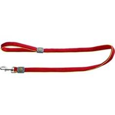 Поводок Hunter Leash Maui 20/140 сетчатый текстиль красный для собак