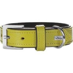 Ошейник Hunter Collar Capri 45 nickel (33-39см) натуральная кожа лайм/черный для собак