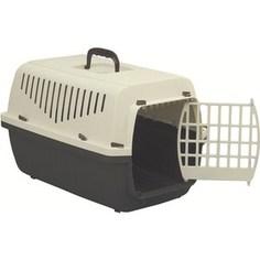 Переноска Marchioro SKIPPER 1P коричнево-бежевая с пластиковой дверцей 48x32x31h см для животных