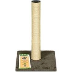 Когтеточка HomeCat столбик ковролин джут коричневая для кошек (295х295х500)