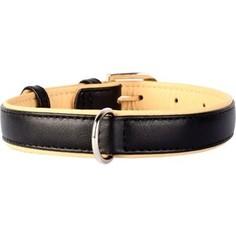 Ошейник CoLLaR Brilliance кожаный двойной ширина 25мм длина 38-49см черный для собак (38771)