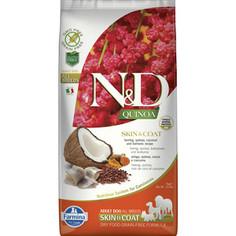 Сухой корм Farmina N&D Dog GF Quinoa Skin & Coat Herring Coconut & Turmeric беззерновой с сельдью киноа кокосом и куркумой для собак 7кг