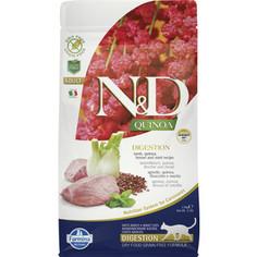 Сухой корм Farmina N&D Cat GF Quinoa Digestion Lamb Fennel &Mint беззерновой с ягненком киноа фенхелем и мятой здоровое пищеварение для кошек 1,5кг