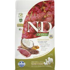 Сухой корм Farmina N&D Dog GF Quinoa Skin & Coat Duck Coconut & Turmeric беззерновой с уткой киноа кокосом и куркумой для собак 800г