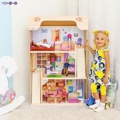 PAREMO Кукольный домик для Барби Шарм (16 предметов мебели, 2 лестницы) (PD315-02)