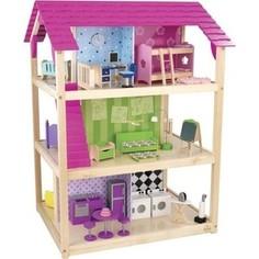 KidKraft Кукольный домик для Барби Самый роскошный (So Chic) с мебелью 45 элементов, на колесиках (65078_KE)