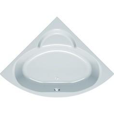 Акриловая ванна Kolpa-san Royal 140x140 см, полукруглая, фронтальная панель, на каркасе, слив-перелив