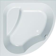 Акриловая ванна с гидромассажем Kolpa-san Swan Magic 160x160 см, полукруглая, на каркасе, слив-перелив