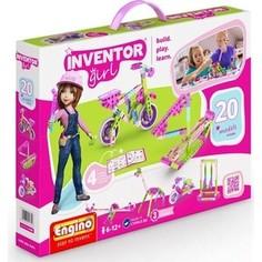 Конструктор пластиковый Engino INVENTOR GIRLS. Набор из 20 моделей (IG20)