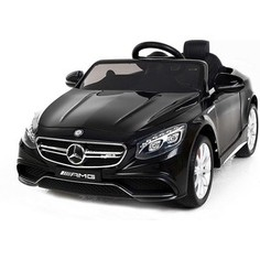 Детский электромобиль Harleybella Mercedes Benz S63 LUXURY 2.4G - Black - HL169-LUX-B