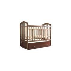 Кроватка Антел Северянка 1 Автостенка, маятник поперечного качания шоколад