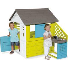 Домик Smoby С кухней, синий, 145х110х127см (810703)
