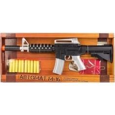 Игрушечное оружие Играем вместе Автомат М-16 стреляет патронами с присосками (CJ-0670474-R)