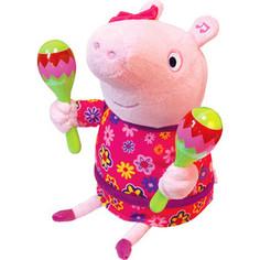 Мягкая интерактивная игрушка Росмэн Свинка Пеппа Пеппа с маракасами (33757)